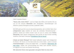 Weingut Newsletter